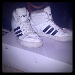 Adidas hightop sneakers size 8.5 women